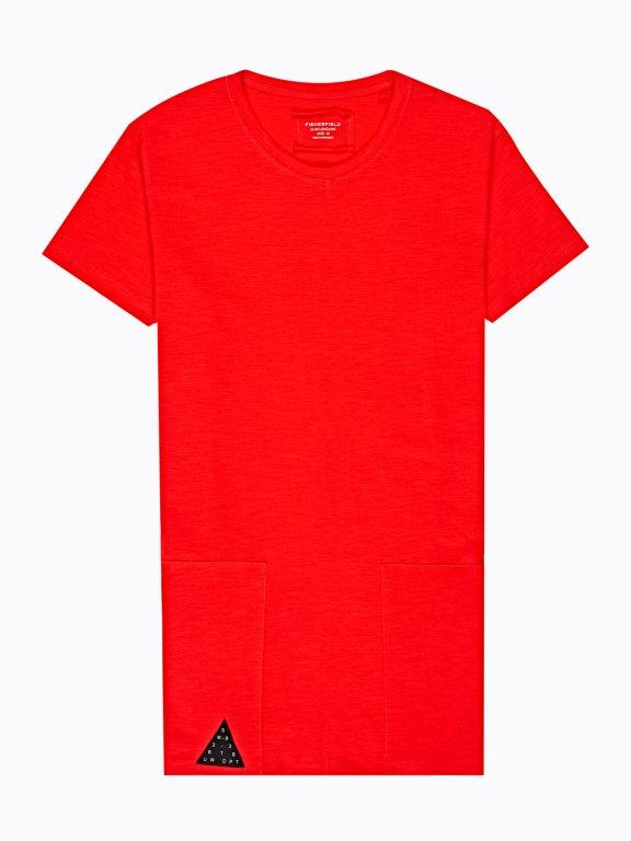 Longline t-shirt with emblishment