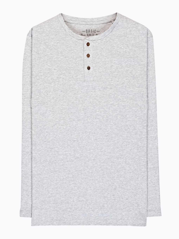 Základné rebrované tričko s gombíkmi