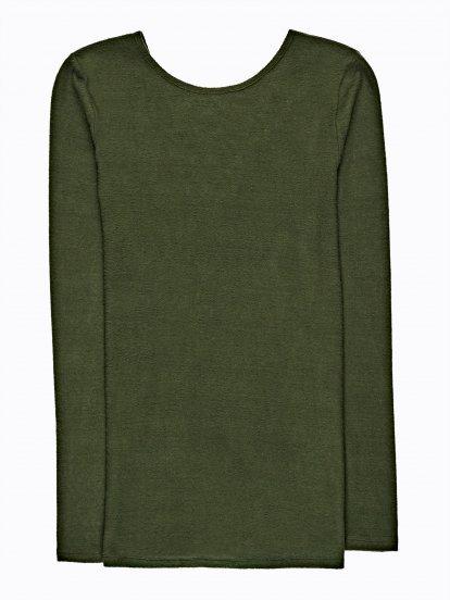 Rozšířený svetr se šněrováním