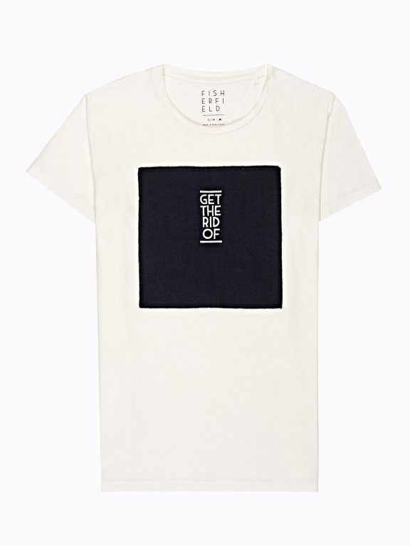 T-shirt with chest embroidery