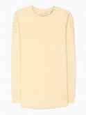 Longline sweatshirt with shoulder detail