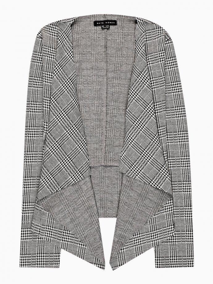 Plaid stretch blazer