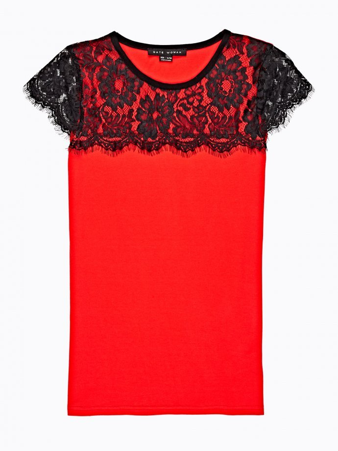 Top with lace detal