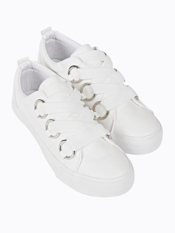 Wide lace sneakers