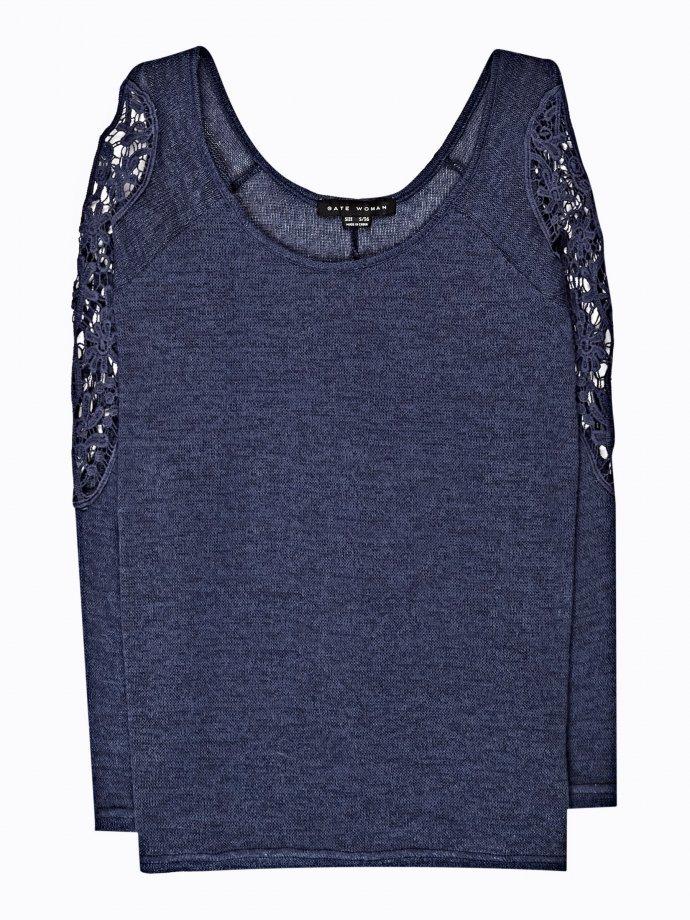 Cold-shoulder jumper with crochet detail