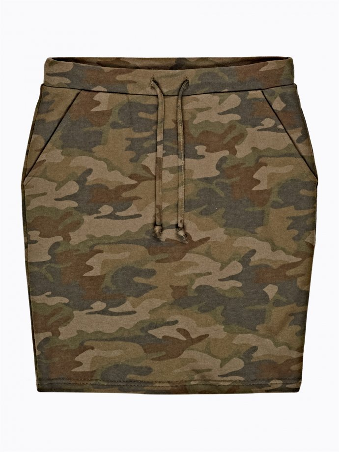 Camo print mini skirt