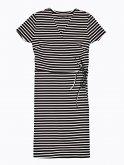 Striped wrap dress