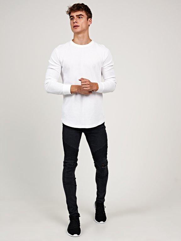 Basic waffle-knit  t-shirt