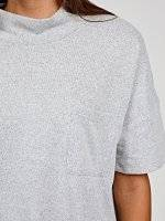 High neck top with pocket