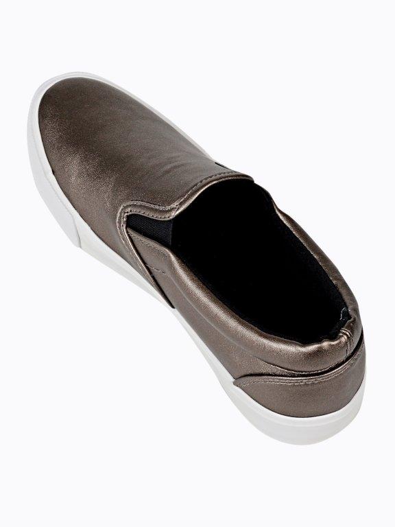 Metallic slip-ons