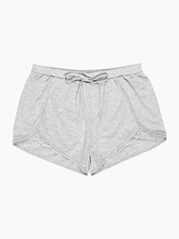 Pyjama shorts with lace detaill