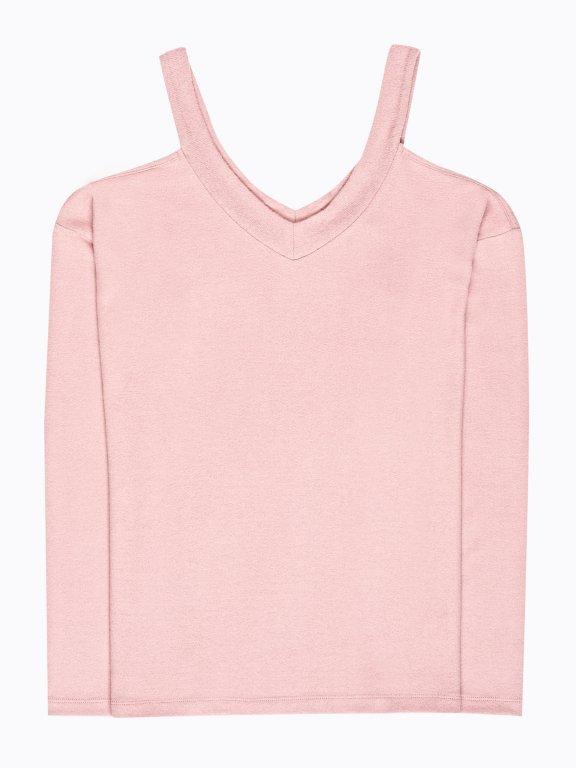 Cold-shoulder jumper