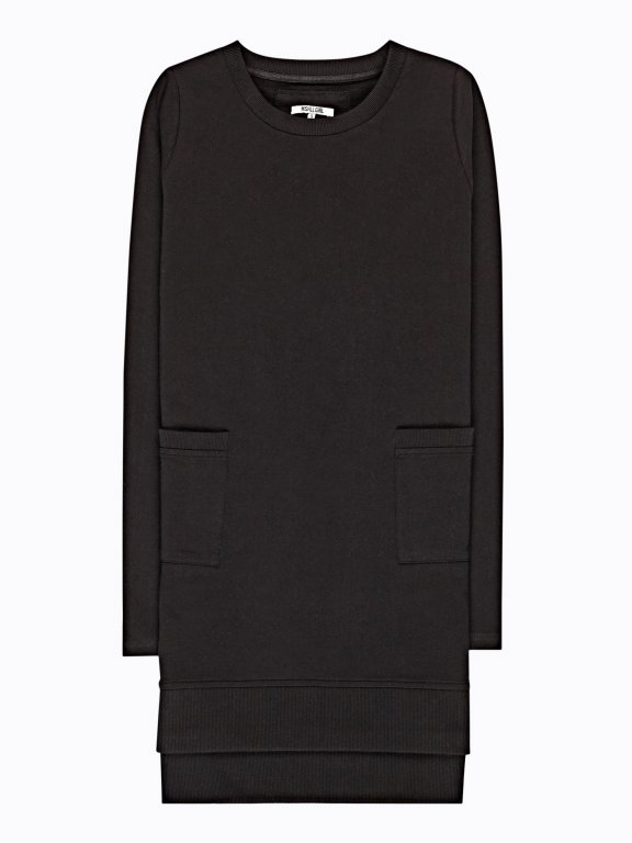 Longline sweatshirt with pockets