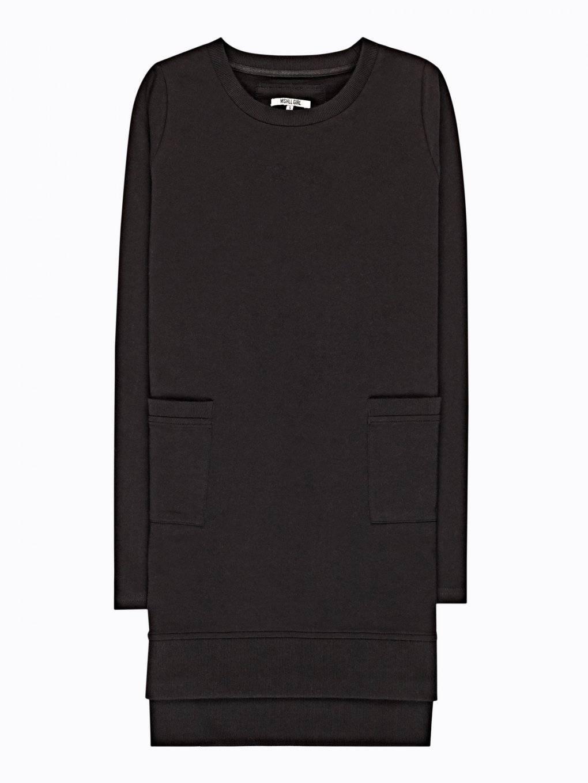 Longline sweatshirt with pockets