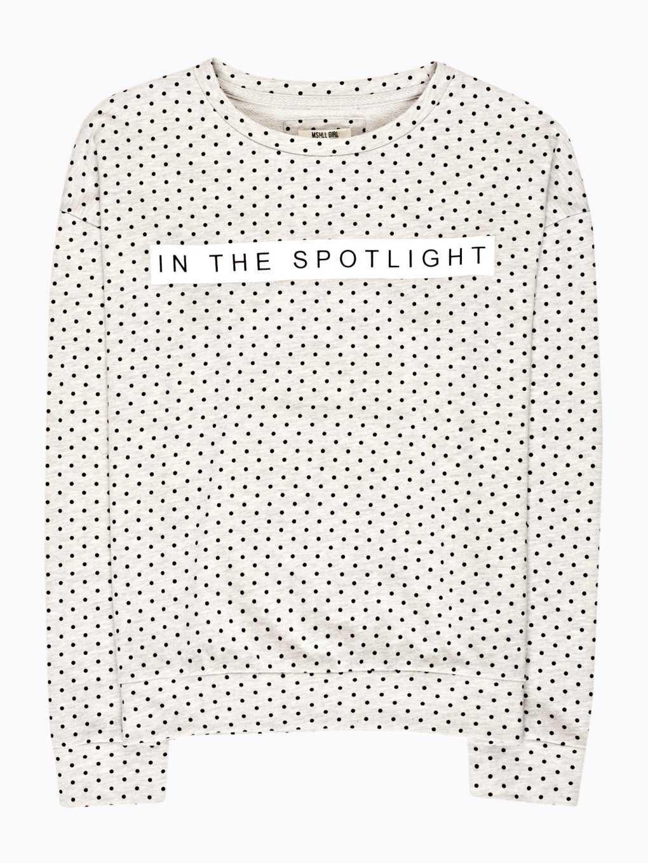 Polka dot print sweatshirt