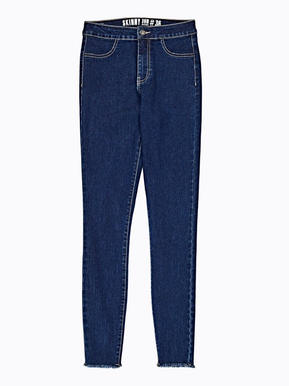 Basic skinny high-waisted jeans