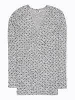 Polka dot print light cardigan