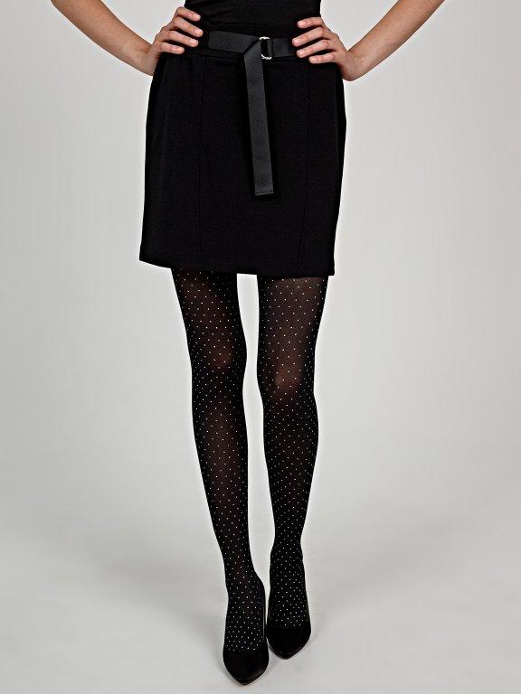 Polka dot pattern tights