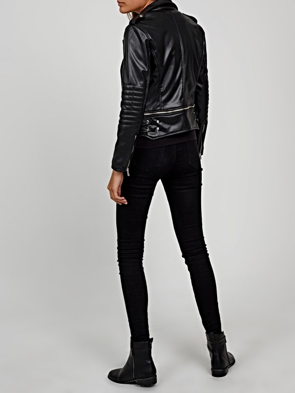 Biker jacket with removable bottom part