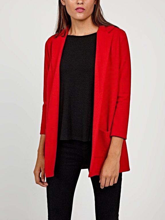Oversized blazer with pockets