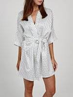 Polka dot print dressing gown