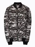 Camo print light padded bomber jacket