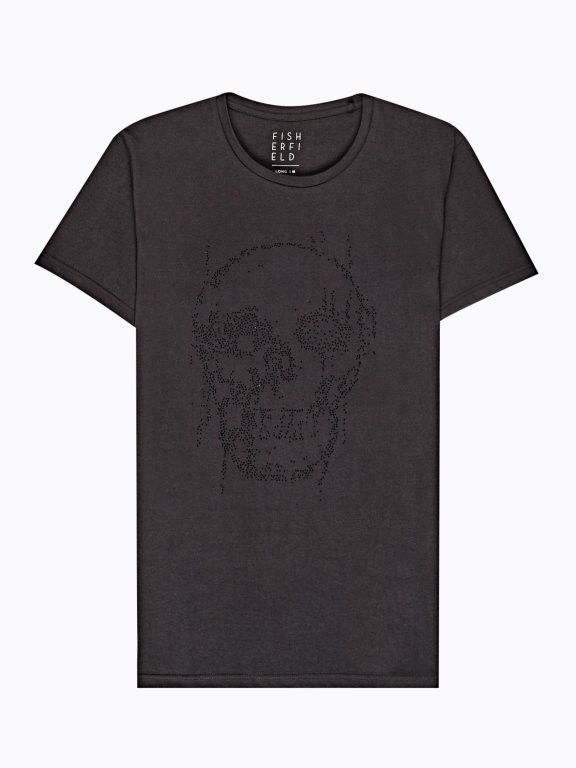 T-shirt with stone skull