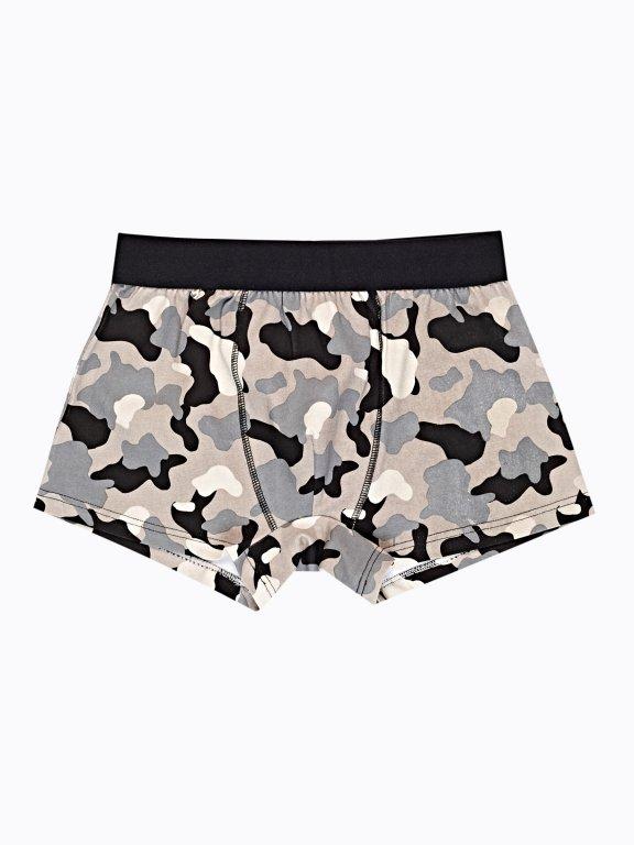 Camo print boxers