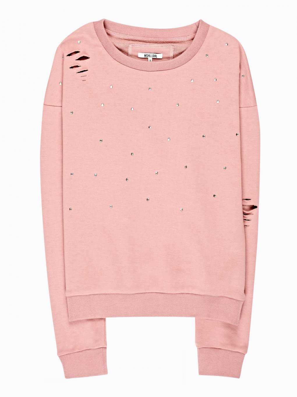 Distressed sweatrshirt with stones