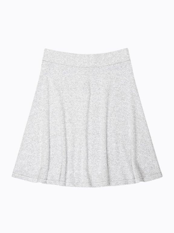 Marled a-line skirt