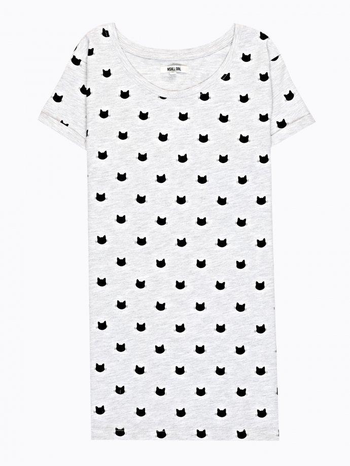 Kitty print t-shirt