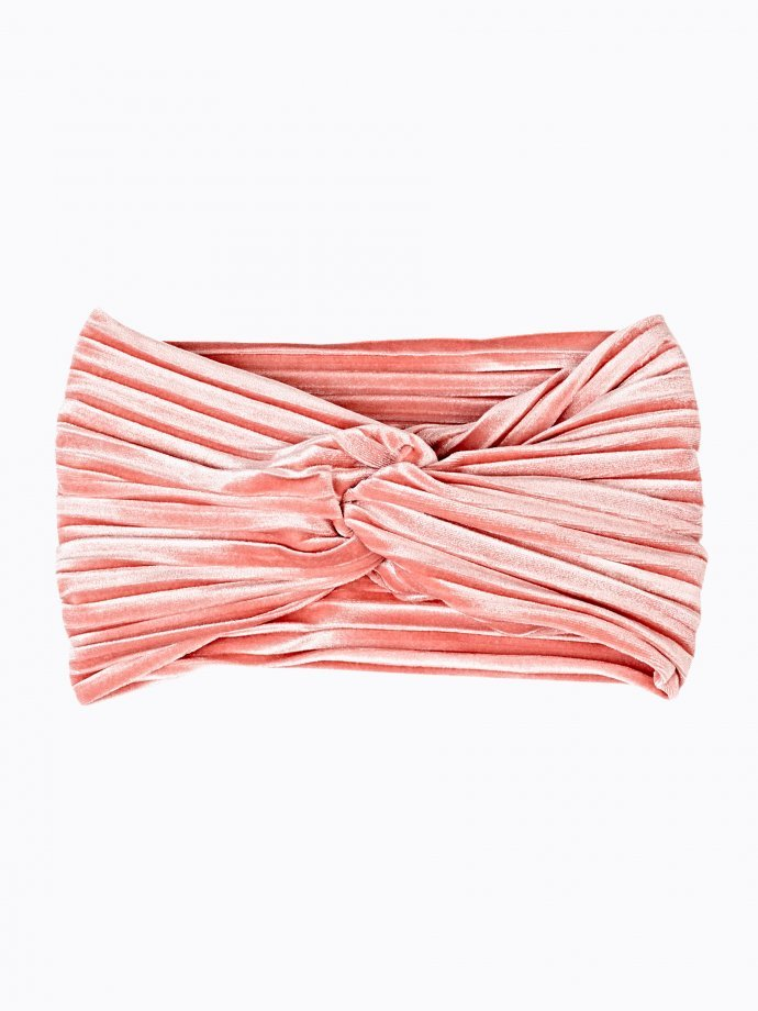Pleated velvet headband