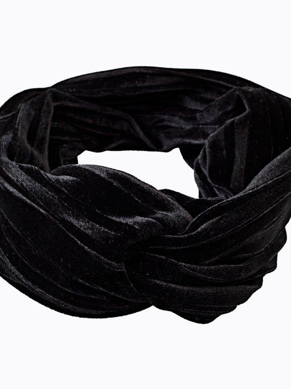 Pleated velvet headband