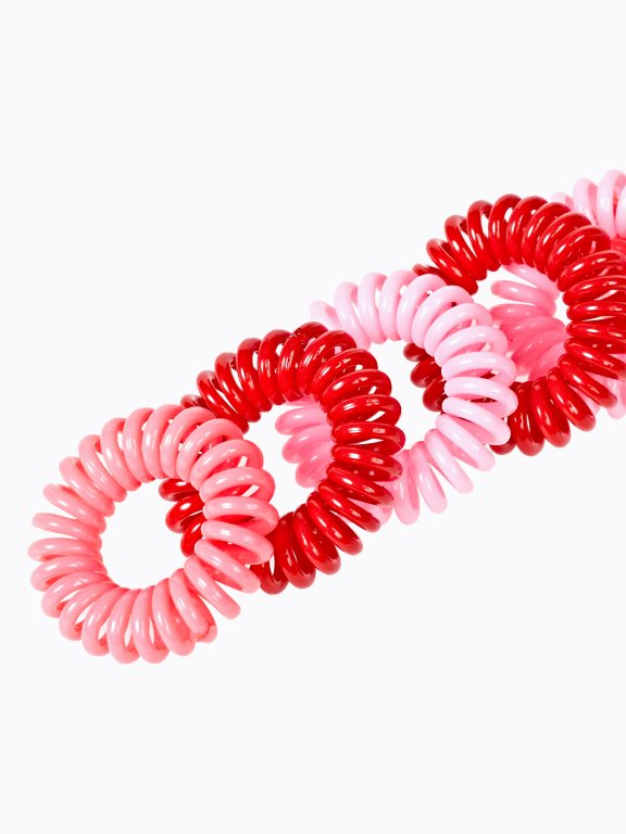 6-pack plastic rubber bands set