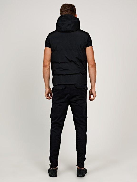 Basic padded vest with hood