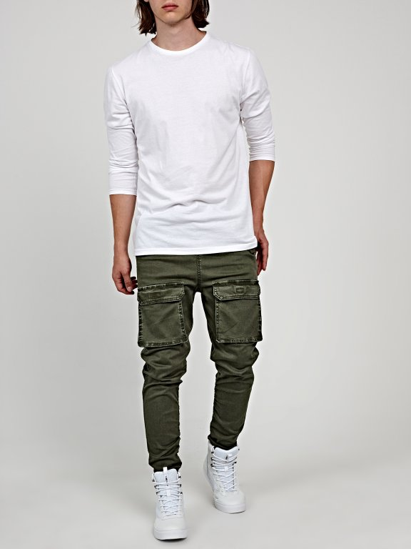 Tapered fit cargo trousers