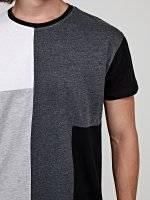 Longline paneled t-shirt