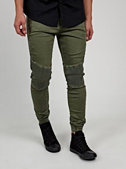 Jogger fit biker jeans