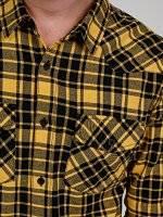 Regular fit plaid denim shirt