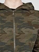 Camo print zip-up hoodie