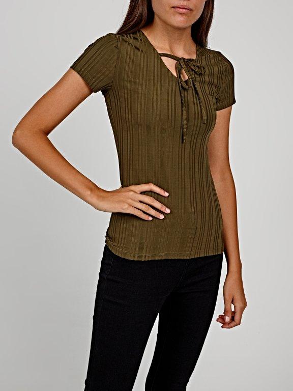 Lace-up t-shirt