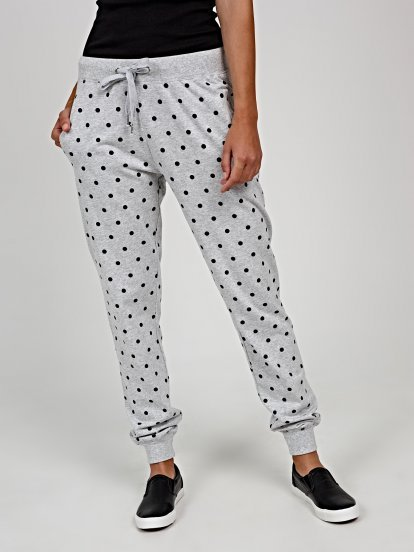 Polka dot print sweatpants