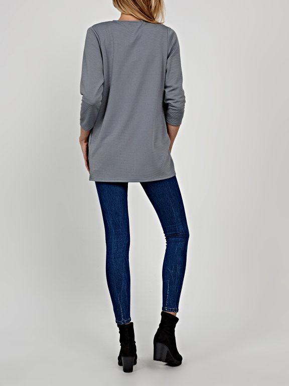 Plain longline blazer