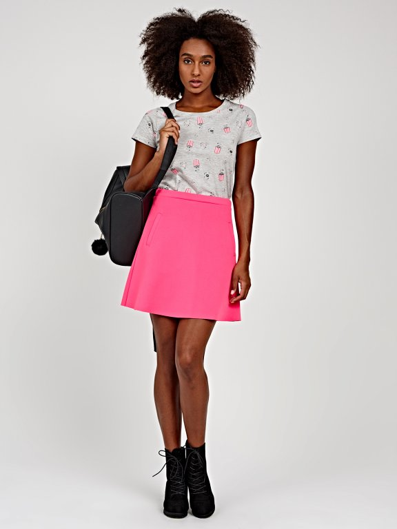 Mini skater skirt with pockets