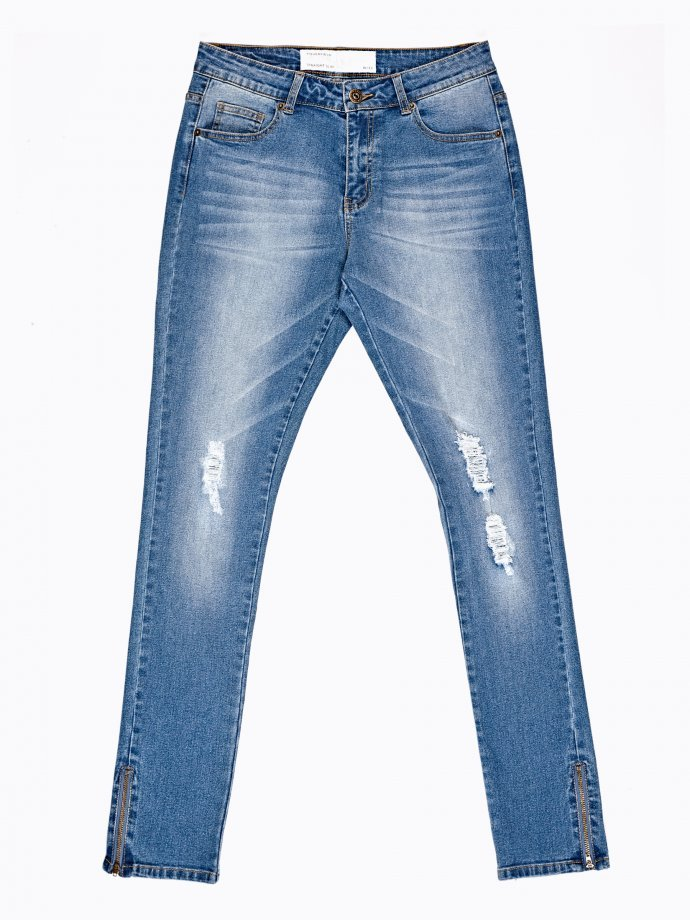 Distressed carrot fit jeans