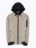 Quilted light padded jacket with hood
