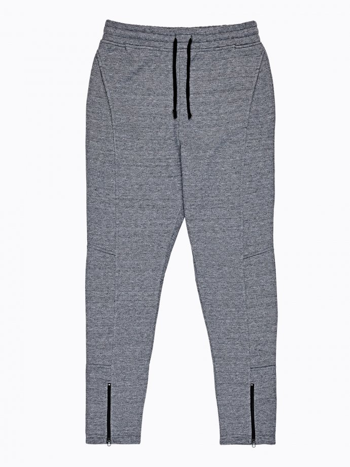 Sweatpants with hem zippers