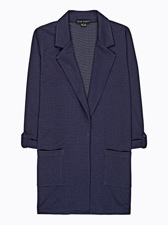 Longline polka dot print blazer