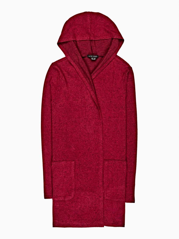 Longline hooded cardigan