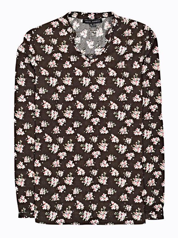 Floral print viscose blouse